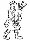 Scotland coloring page