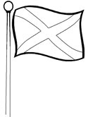 Scottish flag coloring page