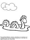 Loch Ness monster coloring page