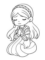 Juliet crying coloring page