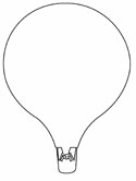 hot air balloon coloring page