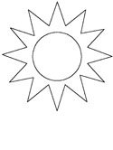 summer weather coloring page sun