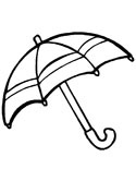 Spring Umbrella Coloring Pages