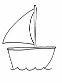 sailboat coloring page
