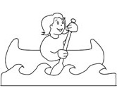 summer canoe coloring page