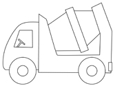 Construction Coloring Page Cement Truck