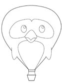 Coloring Pages | Hot Air Balloon Coloring Page | 166x125