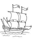 galleon ships coloring page