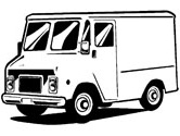 delivery truck coloring pages