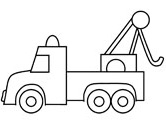 tow truck coloring page