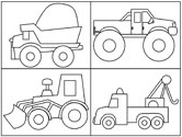 Trucks Coloring Page Various