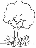earth day coloring page planting trees trees coloring page