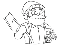 Paul Bunyan coloring pages
