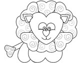 This is a photo of Gargantuan Valentine Lion Coloring Page