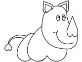 Rhinoceros coloring page
