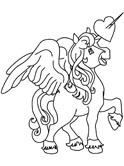 winged unicorn coloring page