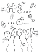 it's a baby coloring page