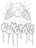 congrats coloring page