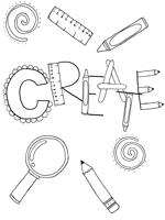 create coloring page