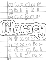 literacy coloring page