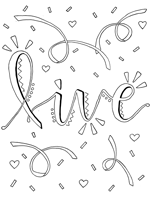 live coloring page
