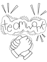 teamwork coloring page