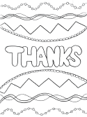 thanks coloring page