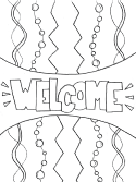 welcome coloring page